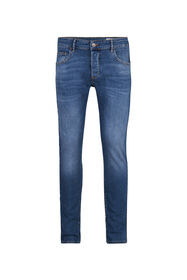 Heren slim fit comfort stretch jeans_Heren slim fit comfort stretch jeans, Blauw