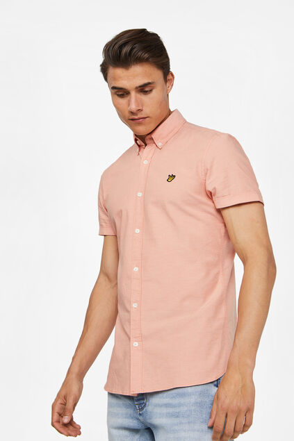 Chemise Oxford à patch homme Orange