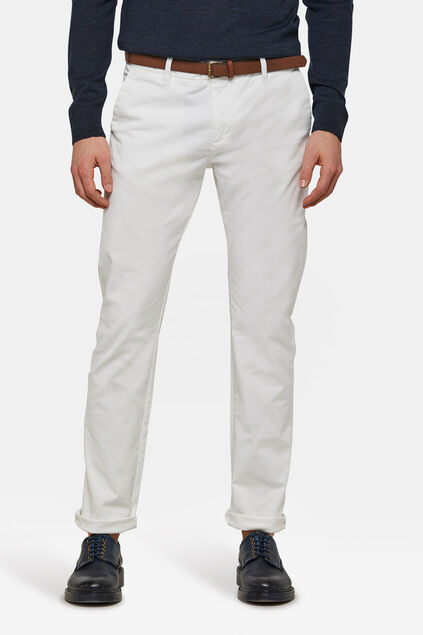 Heren skinny fit chino Wit