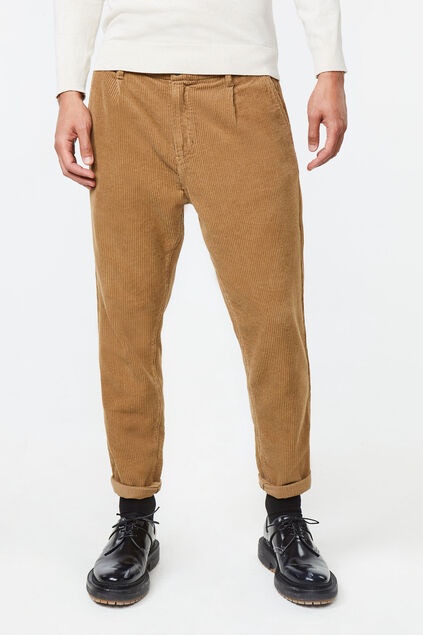 Chino loose fit corduroy homme Brun clair