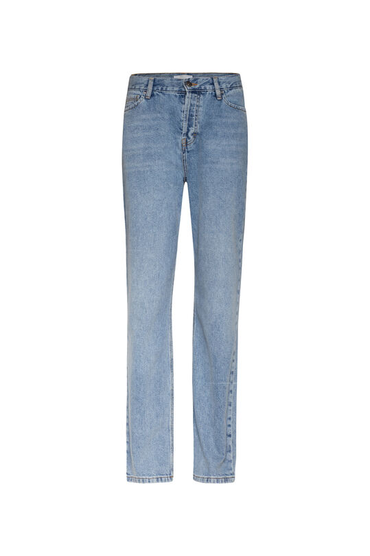 Dames high rise straight jeans Lichtblauw