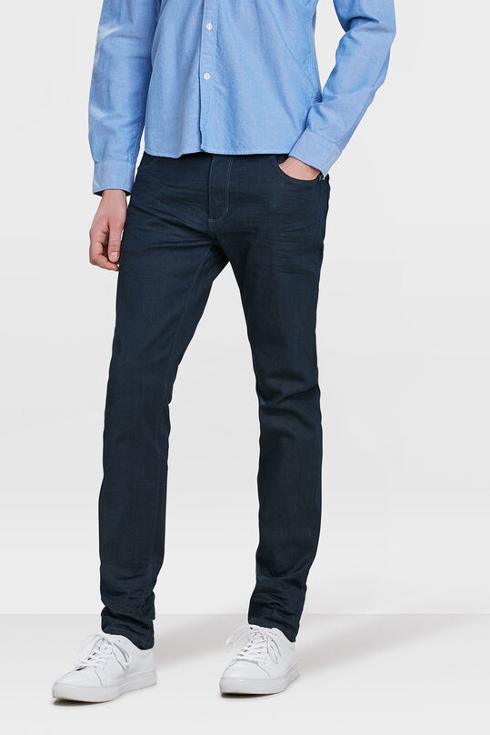 Jeans skinny tapered super stretch homme Bleu marine