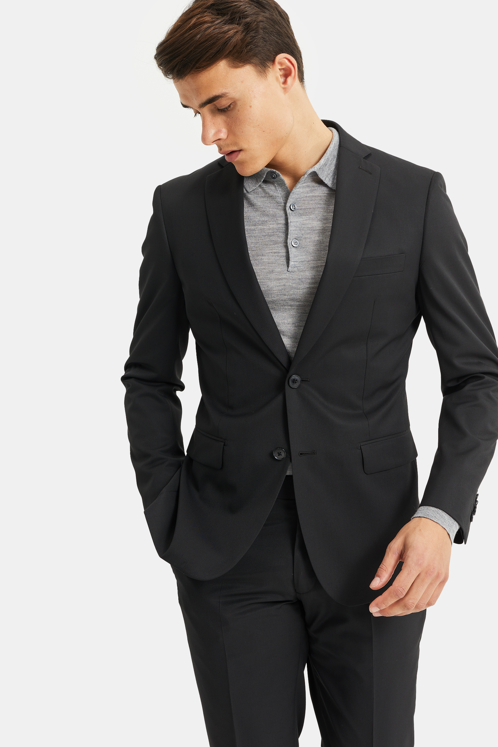 heren slim fit kostuum tom 79626316 set suit we fashion. Black Bedroom Furniture Sets. Home Design Ideas