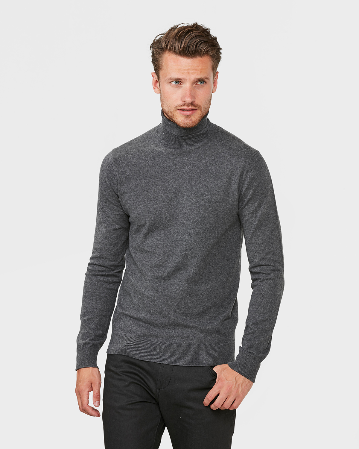 2ba876dca8fe6 PULL A COL ROULE HOMME   79422437 - WE Fashion