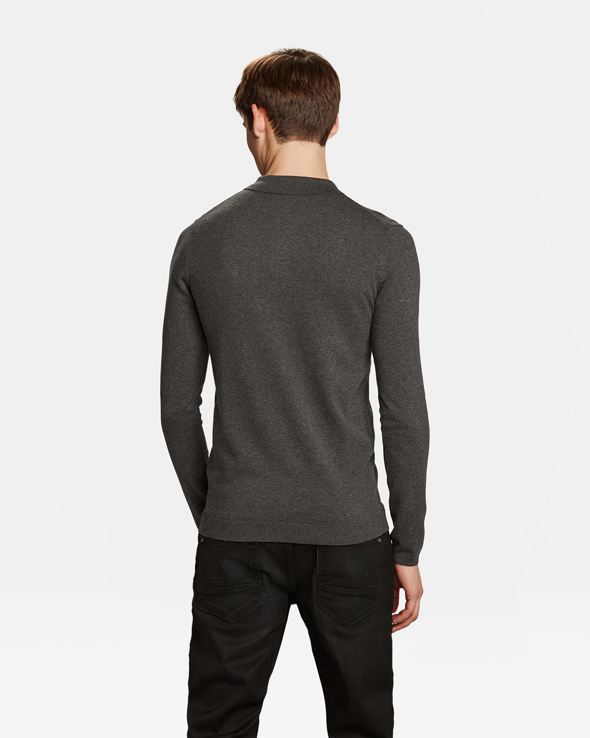 tout neuf 847d3 123a7 Pull col polo homme | 94344424 - WE Fashion