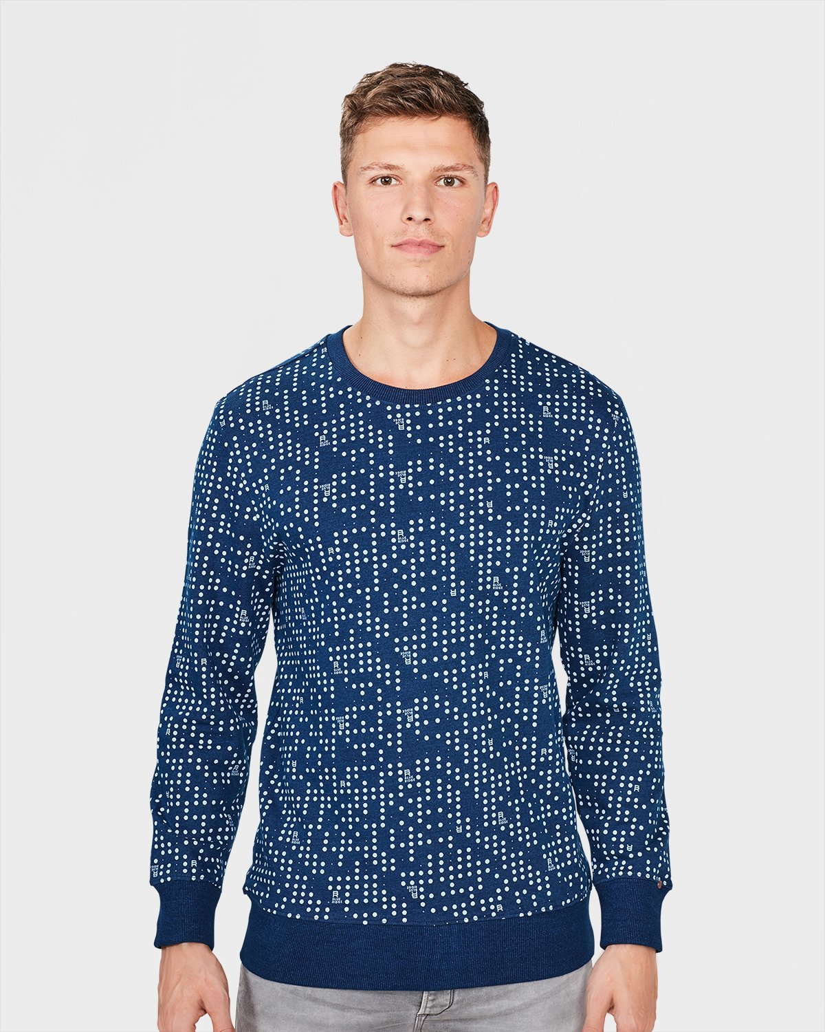 Fashion Sweat Shirt Dot Print Homme We 80008842 OSAYwHO