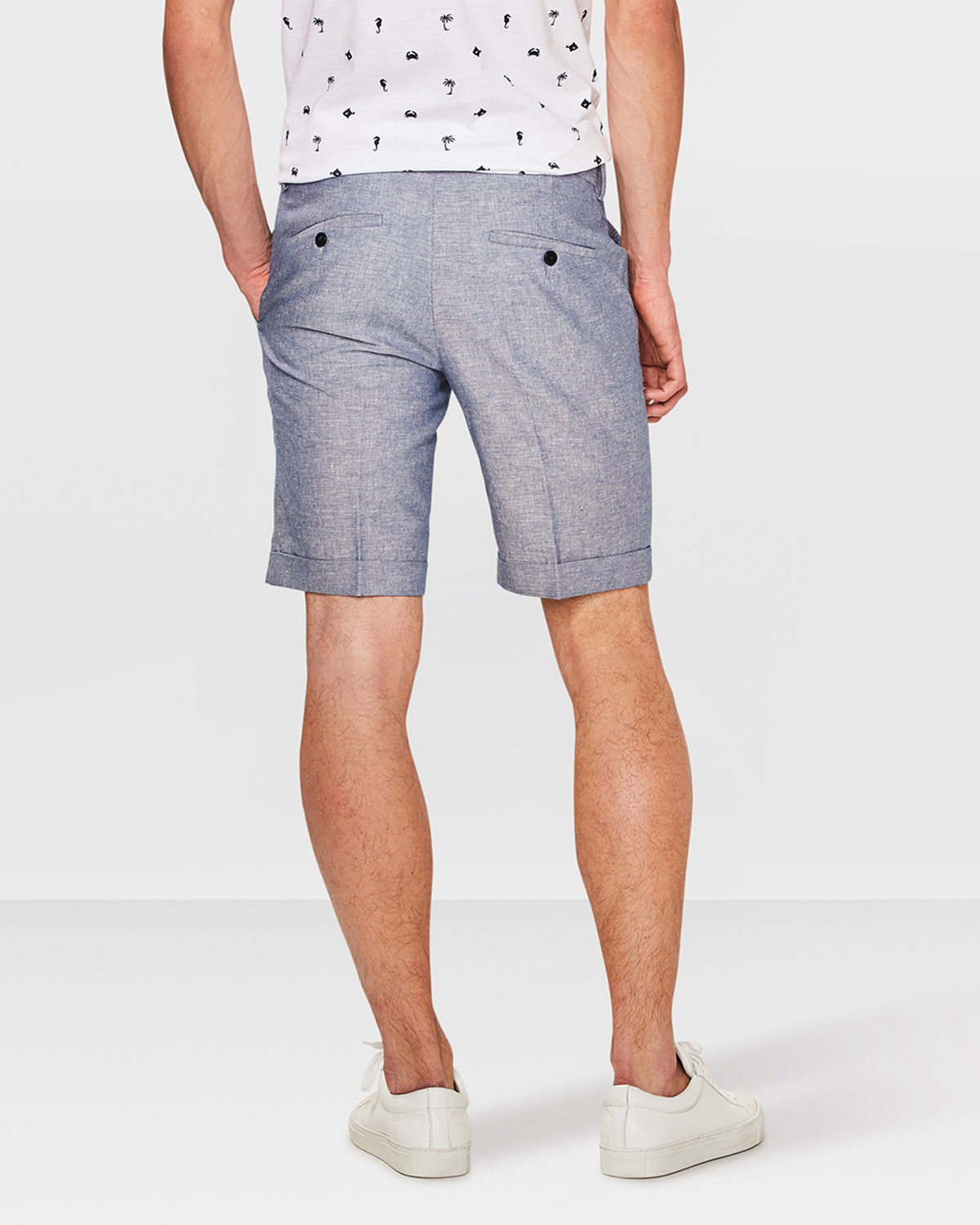 Korte Broek Linnen Heren.Heren Slim Fit Short Brody 79679015 We Fashion