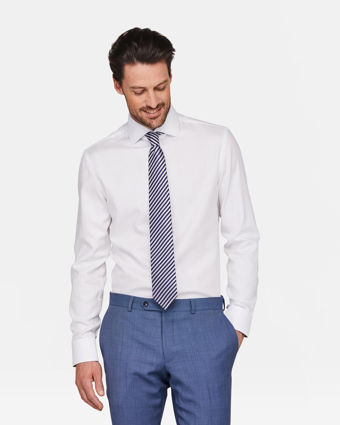 Overhemd Wit Slim Fit.Heren Slim Fit Overhemd 94391022 We Fashion