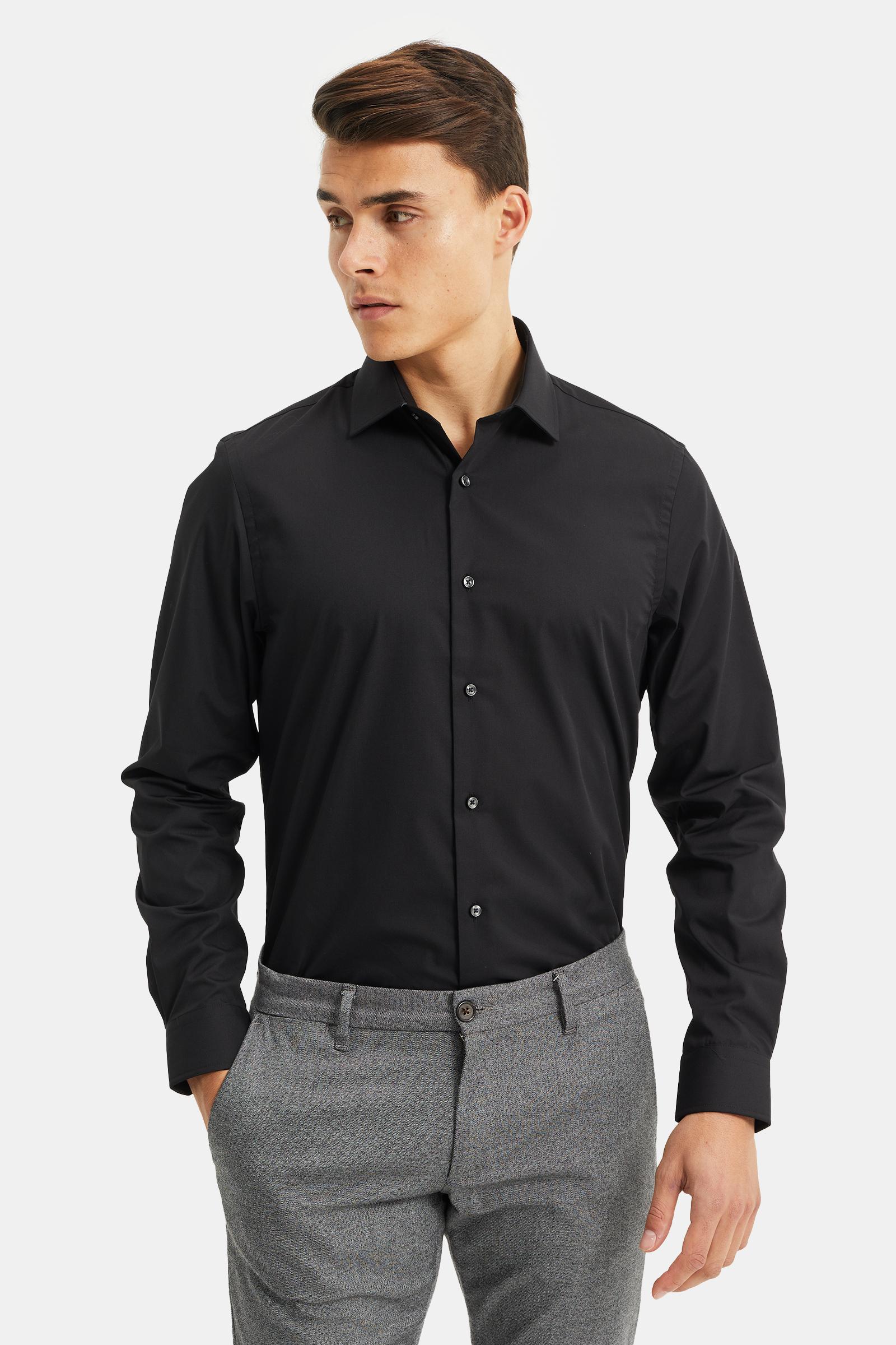 Overhemd Zwart Heren.Heren Regular Fit Easy Care Overhemd 77855824 We Fashion