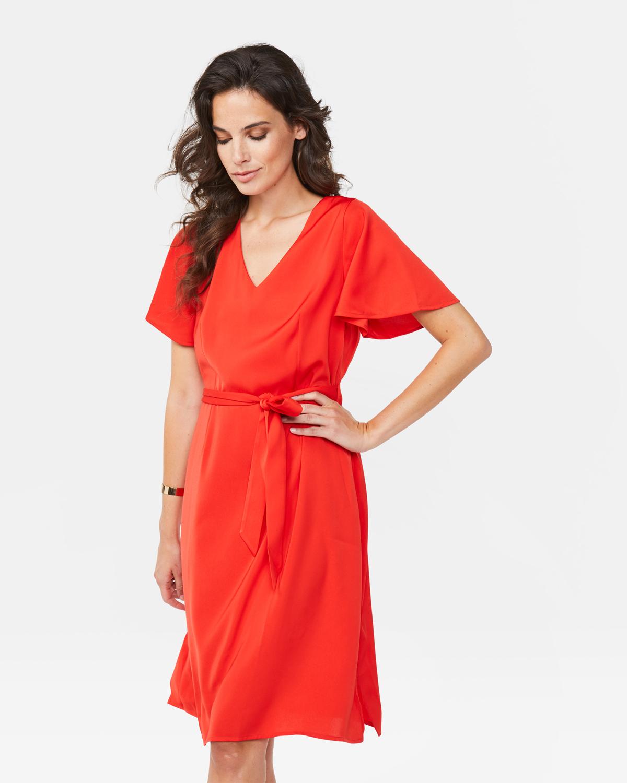 Dames jurk Felrood