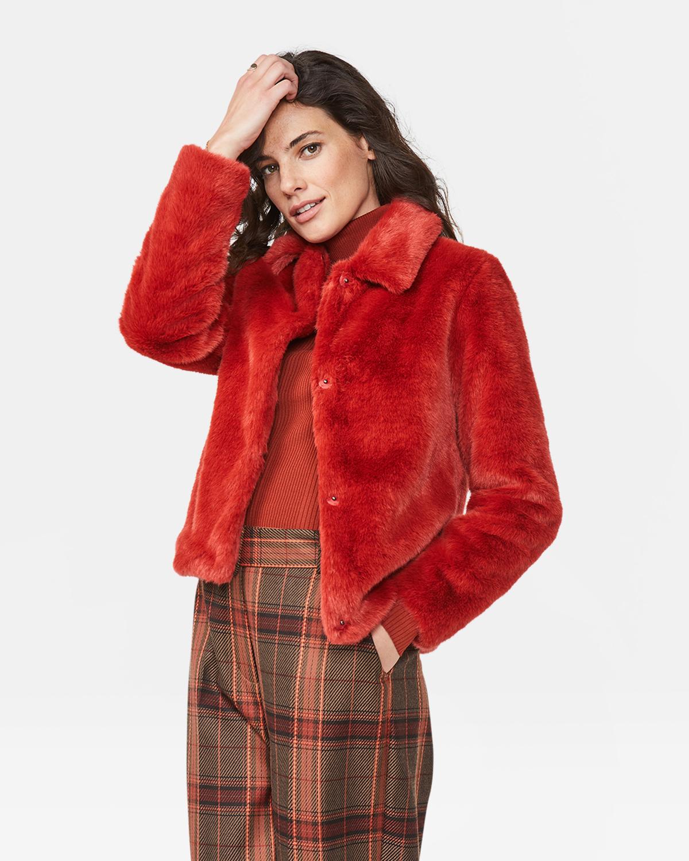 Dames faux fur jas | 94631296 WE Fashion