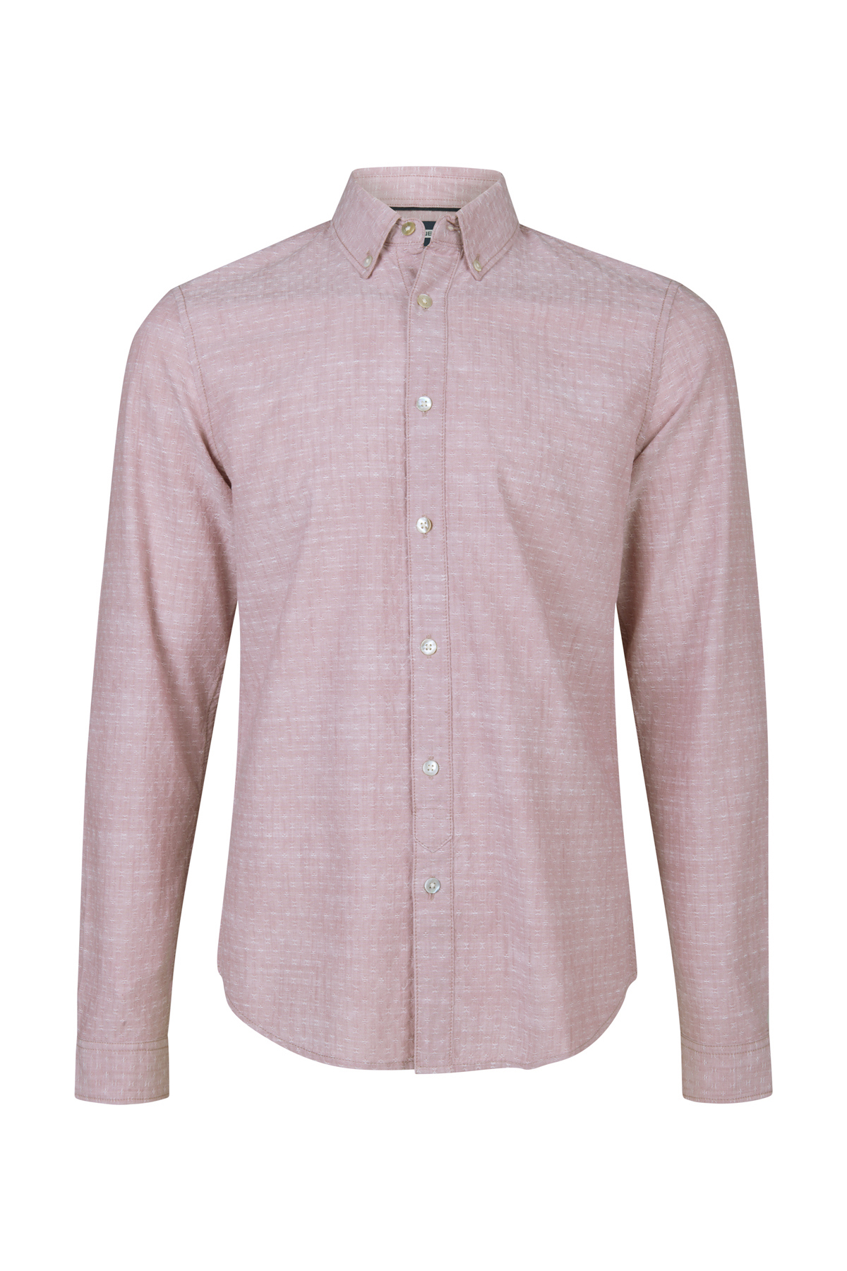 Heren Overhemd Roze.Heren Slim Fit Dessin Overhemd 94406603 We Fashion