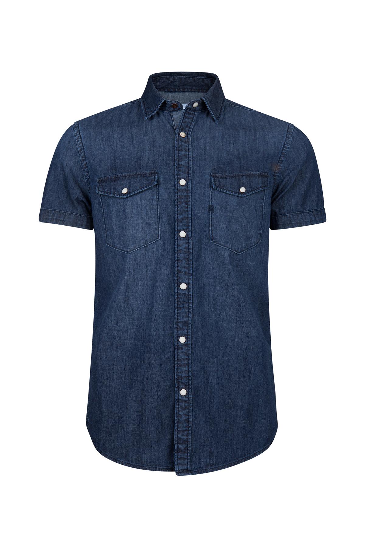 Slim Fit Denim Overhemd.Heren Slim Fit Denim Overhemd 94465655 We Fashion